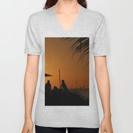 Turks & Caicos Sunset Unisex V-Neck