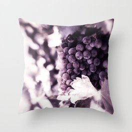 Grapes into Wine Throw Pillow