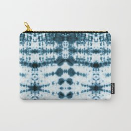Teal Tribe Shibori Carry-All Pouch