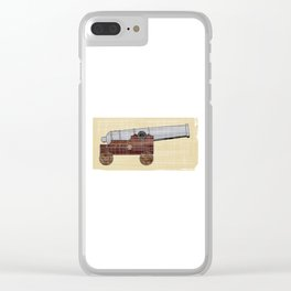 Ships Cannon Clear iPhone Case