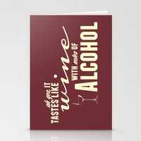alcohol Stationery Cards featuring NOTES OF ALCOHOL by Sandhill