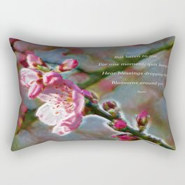 Poem from Rumi Rectangular Pillow