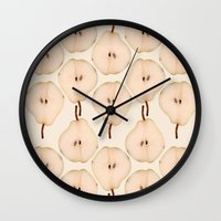 pear Wall Clocks featuring Pear by Colocolo Design | www.colocolodesign.de