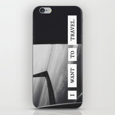 I want to travel   iPhone & iPod Skin