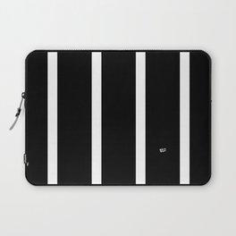BLACK AND WHITE STRIPES #black #white #stripes #minimal #art #design #kirovair #buyart #decor #home Laptop Sleeve