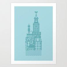 Stockholm (Cities series) Art Print
