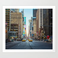 Sunset on 7th Avenue Art Print