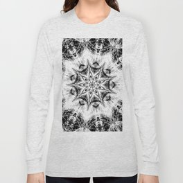 Atomic Black Center Swirl Mandala Long Sleeve T-shirt