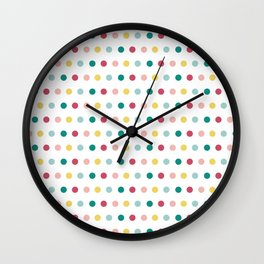 Colorful happy dots Wall Clock