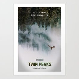 Twin Peaks, 25 Years Later Art Print
