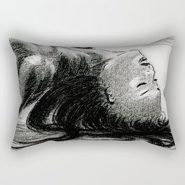 Passion in Black and White Rectangular Pillow