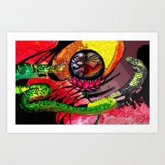 Boa vs Cobra Art Print