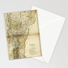 Map of Vermont by Carl Ernst Bohn (1796) Stationery Cards