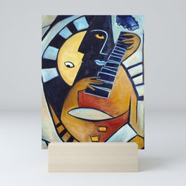 Blues Guitarist Mini Art Print
