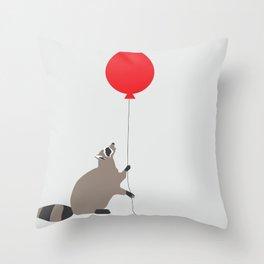 Darn Raccoons. Throw Pillow