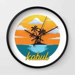 kabul Holiday Dream Wall Clock