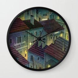 City by night Wall Clock