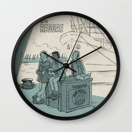Walk Like A Dragon Wall Clock