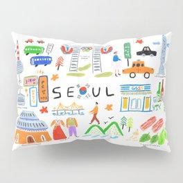 Colorful Seoul Pillow Sham