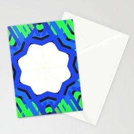 Mandala green and blues Stationery Cards