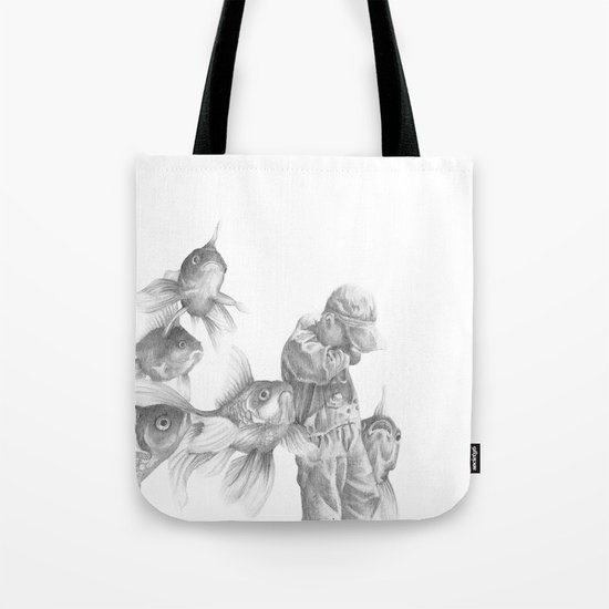 In which fish show concern Tote Bag