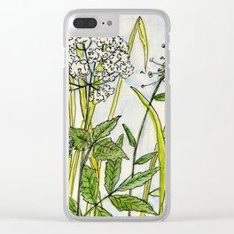 Herbs Wildflowers Garden Flowers Clear iPhone Case