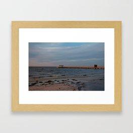Bokeelia Pier at Sunset Framed Art Print