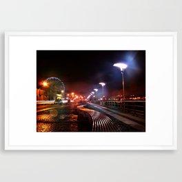 Dublin Quays by Night Framed Art Print