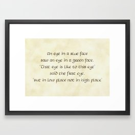 Riddles #5 Framed Art Print