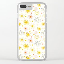 Orange Yellow Summer Sun Clear iPhone Case