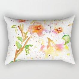 Little Garden Watercolor Rectangular Pillow