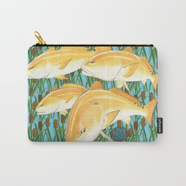 Live for the Catch- Red Fish Carry-All Pouch