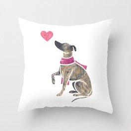 Watercolour Whippet Throw Pillow