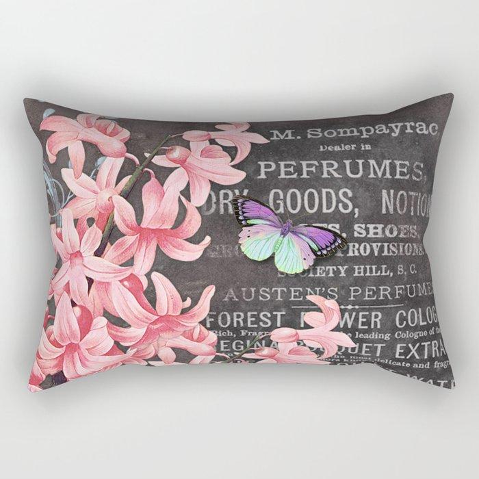 Vintage Flowers #1 Rectangular Pillow