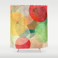 georgiana paraschiv Shower Curtains featuring The Round Ones by Anai Greog