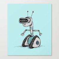 robot Canvas Prints featuring Robot by Sophie Corrigan