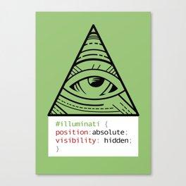 CSS Pun - Illuminati Canvas Print