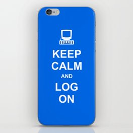 Keep Calm and Log On iPhone Skin