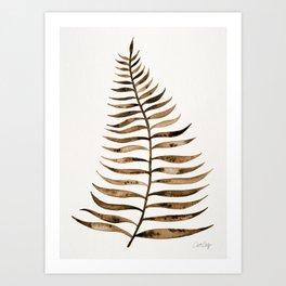 Palm Leaf – Sepia Art Print