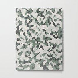 Camouflage Grey Tan Green Black Multi Terrain Pattern Metal Print