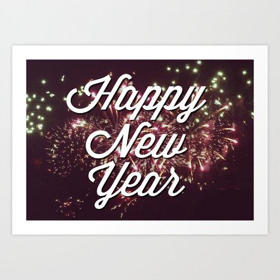 New Year Art Print