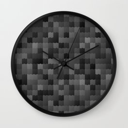 Slick Black tiles Wall Clock