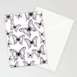 simple butterfly pattern Stationery Cards