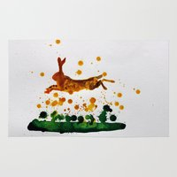hare Area & Throw Rugs featuring Hare by Condor