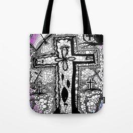 He is Risen - B/W Tote Bag