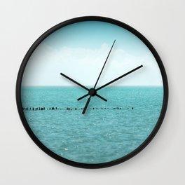 Landscape photo - black sea Wall Clock