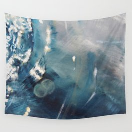 Deep Blue Waves Wall Tapestry