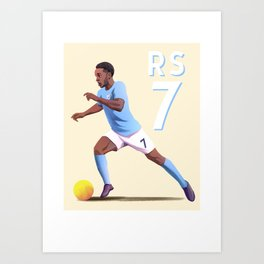 Sterling 7 - Football Art Print