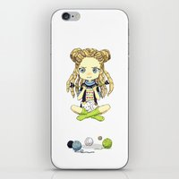 knitting iPhone & iPod Skins featuring Knitting Meditation by Freeminds