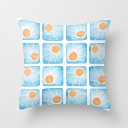 Watecolor Squares Throw Pillow
